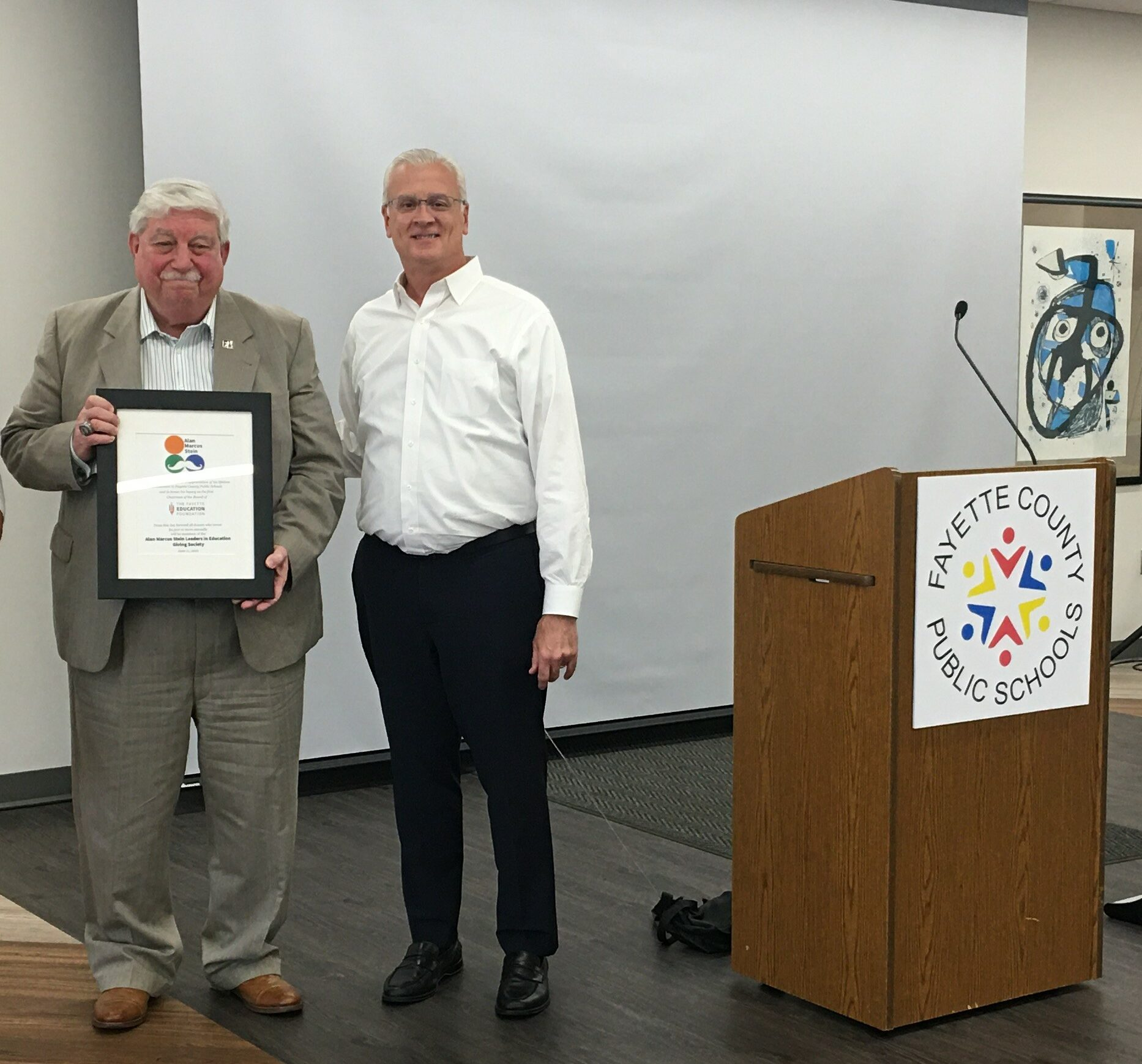 The Fayette Education Foundation Honors Alan Stein